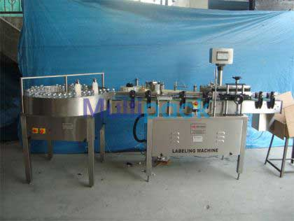 Vial Labeller Machine With Turn Table